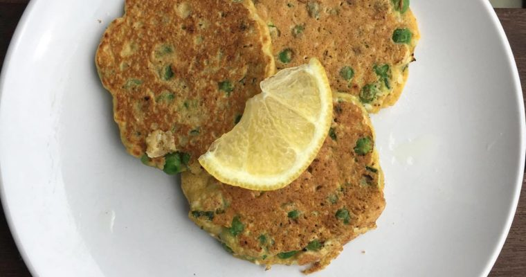 Zucchini (courgette), Pea & Sesame Seed Fritters