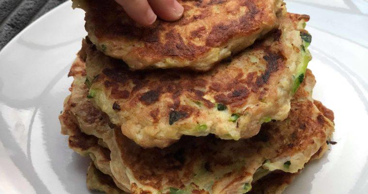 Tuna + Zucchini Pancakes (4 ingredients)