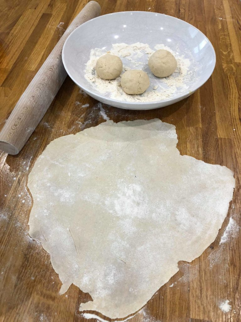 roll out each flat bread